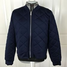 Lauren Ralph Lauren Women's Sz XL Bomber Jacket Navy Blue Quilted Zip NWT $135