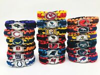 NFL Football Paracord Bracelet Wrap Wristband (US Seller + Free Shipping)