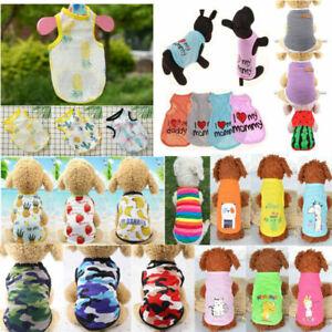 Summer Pet Dog Cat Vest Puppy T-Shirt Coat Poodle Dog Clothes Apparel Costumes