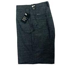 Hurley Men's Dri-FIT Regular Fit Black Grey Skate Board Golf Shorts Size 38
