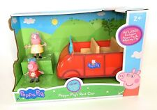 PEPPA PIG - Peppa's Red Car with Peppa and Mummy Pig Figures