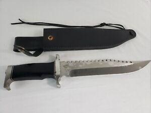 Gil Hibben 15 inch Sawback Bowie Knife with Sheath GH5026