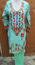 summer collection gold embroider new  design  lawn cotton pant kameez Size S 36