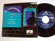 JO L' AUVERGNAT & accordéon musette: Les amants d'un jour EP 1957 PATHE EGF 228