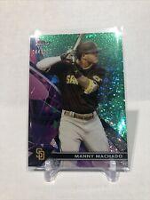 2021 Topps Finest Green Sparkle Manny Machado #ed 44/125 San Diego Padres