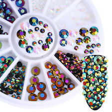 Mixed 3D Nagel Glitzersteine Dekoration Im Wheel Nail Art Chameleon Straßsteine