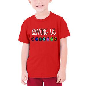 Among Us Game Boys Girls 100% Cotton T-shirt Children Short Sleeve T-shirt Gifts