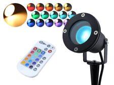 LED RGBW Gartenstrahler 5W RGB + warmweiss 230V Strahler mit Erdspieß IP68