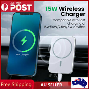 Magnetic Car Mount Wireless Charger with MagSafe for iPhone 13 12 mini Pro