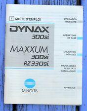 Notice d'emploi appareil photo Minolta Dynax 300 si Maxxum