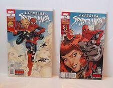Avenging Spiderman #9 & 10 (1st prints. 1st appearance Captain Marvel)