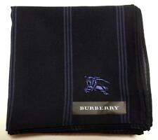 BURBERRY Handkerchief scarf bandana Men Black Horse Cotton Auth New Collectible