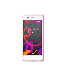 Fundas y carcasas rosas transparentes Para BQ Aquaris para teléfonos móviles y PDAs