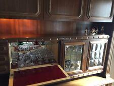 "German Custom Made 2 piece Oak ""Schrank"" (Dry Bar -sound/ light wired Armoire)"