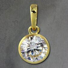 Colgantes de joyería de metales preciosos sin piedras blancas de oro amarillo