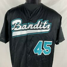 Vintage Bandits Baseball Jersey Majestic Made USA Men's XL Sewn Black