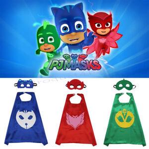 Superhero Cape Costume PJ Masks Cape & Mask Kids Girls Boys Gekko Owlette Catboy