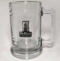 Six Flags Over Georgia Clear Souvenir Beer Glass Mug Atlanta No Chips No Cracks