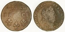FRANCE - 1715-W Liard - Louis XIV - Scarce!