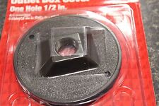 NEW 36492 ROUND ZINC OUTLET BOX COVER BROWN NEW