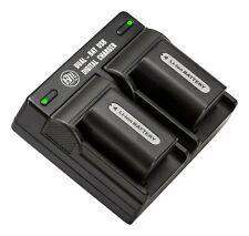 BM 2X NP-FH50 Batteries & Dual Charger for Sony CyberShot DSC-HX1 HX100V HX200V