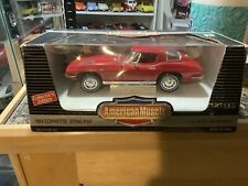 1/18th scale 1963 Chevrolet Corvette coupe Ertl American Muscle Red diecast