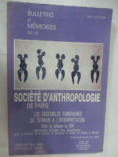"""Société d'Anthropologie de Paris T 8 """"Les ensembles funéraires du terrain à.."""