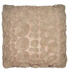 """Pastel Pink Circular Lace 43cm 17"""" Cushion Cover"""