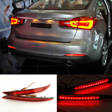 2x LED Rear Bumper Reflector Tail Brake Lights For KIA Forte Cerato 2013 2014