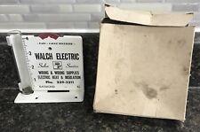 Vintage Metal Rain Gauge Recorder w/ Box Walch Electric Raymond Ill.