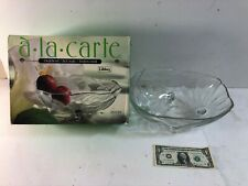 "Vintage Libbey A-La-Carte 12"" Oval Glass Bowl ""Jasmine"""