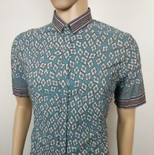 Burberry Prorsum Mens Shirt Tribal African Art Deco Italy Sz 44 UK XL RRP£390