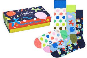 Happy Socks - Happy Birthday Socks Gift Set - Box - 3er Pack