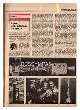 1975 DOCUMENT (ref PEL 4834) SPATIAL ESPACE  :  APOLLO / SOYOUZ 1p