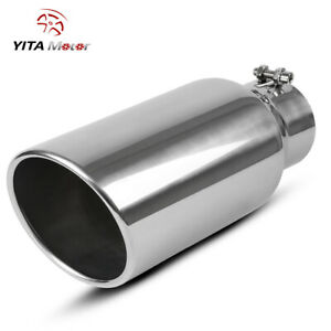 ECCPP Diesel Exhaust Tip 4 Inlet 7 Outlet Exhaust Tips 15 Long Mirror Polished Stainless Steel Exhaust Tailpipe