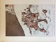 m17a ephemera 1920s book plate the elves climb over thaw h c sandy