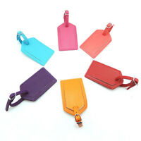 Luggage Tags Travel Accessories Suitcase Tag Name ID Address PU Leather Bag Czxy