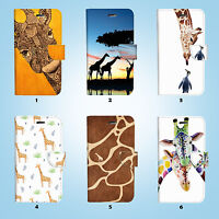 Cute Giraffe Wallet Case Cover for iPhone XS MAX XR X 8 7 6 6S Plus SE 5S 056