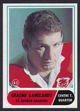SCANLENS 1969 ST.GEORGE DRAGONS GRAEME LANGLANDS NO.43