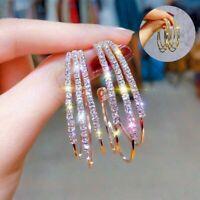 Ear Stud Hoops Women Hook Jewelry Crystal Lady Earrings Dangle Gifts Elegant