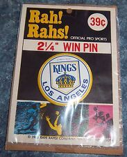 Los Angeles Kings  Pin Back Button  1968 2 1/4 in. diameter still in package