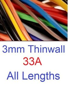 3.0MM AUTO CABLE, 12/24V THINWALL CAR BOAT VAN VEHICLE WIRE, 33 AMP UPTO 50M