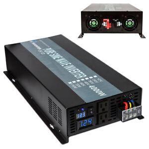 4000W 12V/24/48V DC to 120/220/240V AC Pure Sine Wave Inverter Car/Home Solar