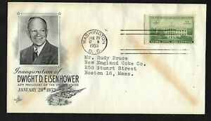 Dwight D. Eisenhower Inauguration 1/20/53 -ArtCraft Cachet with #990 White House