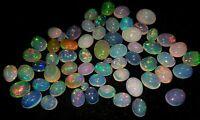 100% Natural Opal Jumbo Fire 8x6 4 Pcs Cabachon In Loose Gemstones