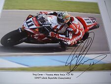 Troy Corser signed Yamaha WSBK Keith Martin print, Moto Italia YZF-R1