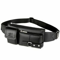 Luxury Men Waist Bag New Leather Fanny Pack Hip Belt Pouch Outdoor Sport Travel
