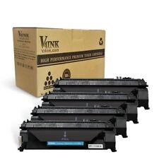 V4INK 4 Pack Compatible Replacement for 05A CE505A Toner Cartridge - Black