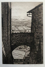 Luigi Lucioni (American 1900-1988) Stones and Shadows, 1956 AAA signed etching