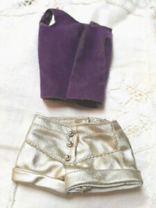 VINTAGE MOD BARBIE DOLL #3357 SILVER BLUES HTF PURPLE TOP & GOLD LAME SHORTS LOT